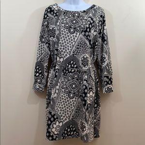 LOFT Long Sleeve Printed Dress  Size M